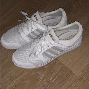 adidas Shoes - ADIDAS Cloud-foam Cushion White & Silver Sneaker